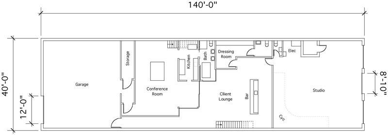 Art studio design layout